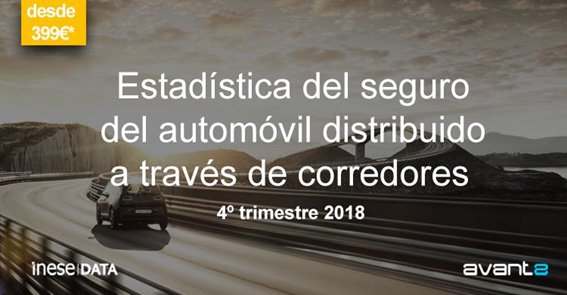Estadística del seguro del automóvil distribuido a través de corredores 4 trimestre 2018