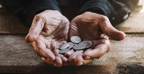La pensión media de jubilación de un trabajador autónomo es 500 euros inferior a la de un asalariado