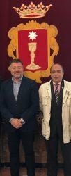 La Junta de Gobierno del Colegio de Mediadores de Cuenca, recibida de forma oficial en el Ayuntamiento conquense