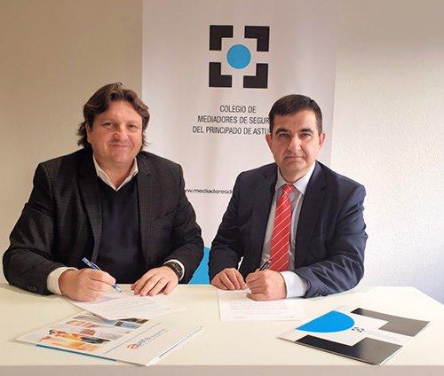 El Colegio de Mediadores de Seguros de Asturias y ASEFA renuevan su acuerdo