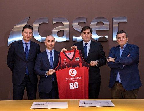 Caser y Basket Zaragoza renuevan el acuerdo de patrocinio para la temporada 2019/2020