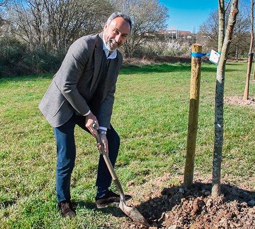 IMQ se une a la plantación de los más de 200 árboles del bosque de la concordia