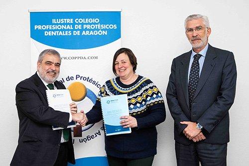 FIRMA ACUERDO AMA Y COLEGIO PROFESIONAL DE PROTESICOS DENTALES DE ARAGON ZARAGOZA