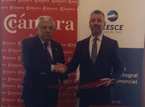 Cesce renueva su acuerdo con la Cámara de Comercio de Sevilla