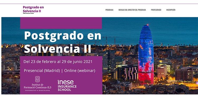 INESE e IL3 - UB convocan la décima edición del Postgrado Universitario en Solvencia II