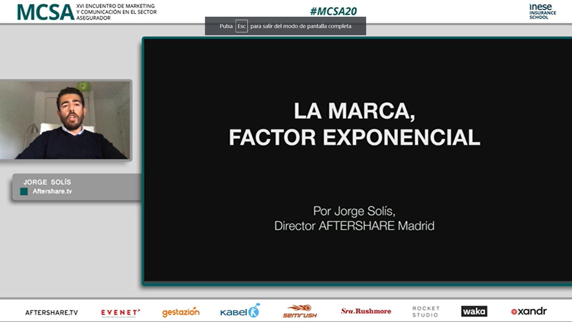 Jorge Solís en el #MCSA20