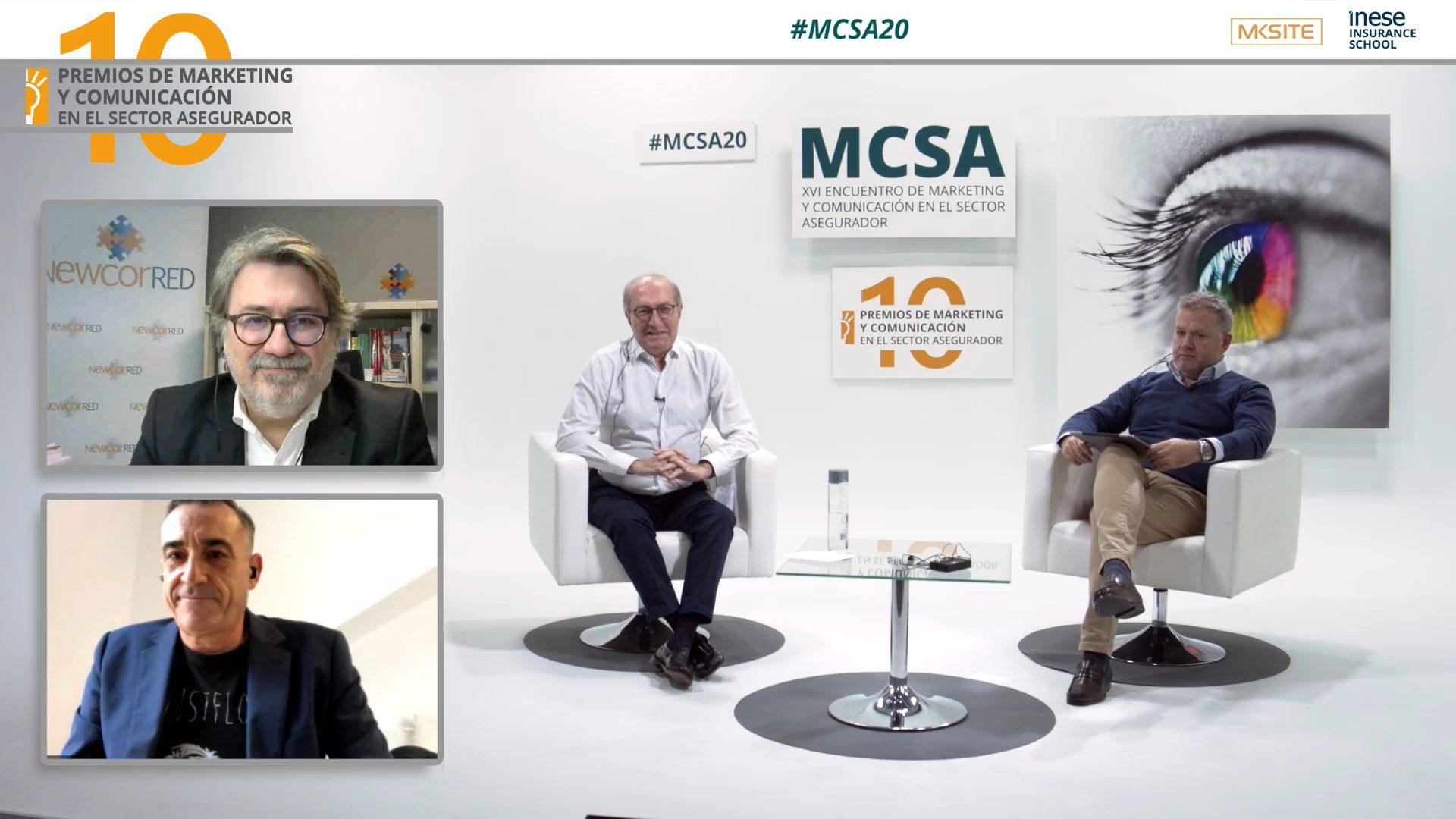 Los premiados junto a Ramón Albiol y José Luis Casal, en el plató
