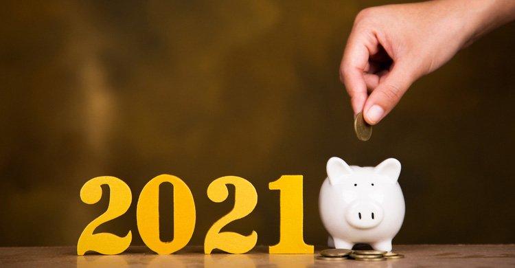 2021 - concepto de ahorro