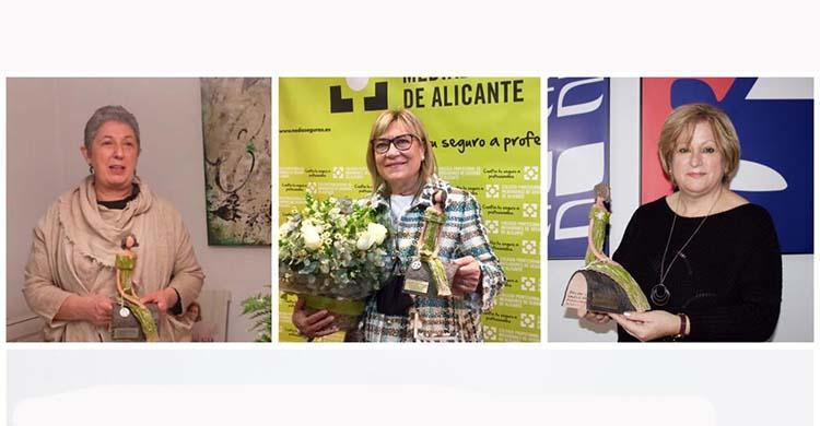El Colegio de Alicante reconoce el Liderazgo Empresarial de Juana Mª Cardiel, Mariger Soler Tarí y Elena Benito