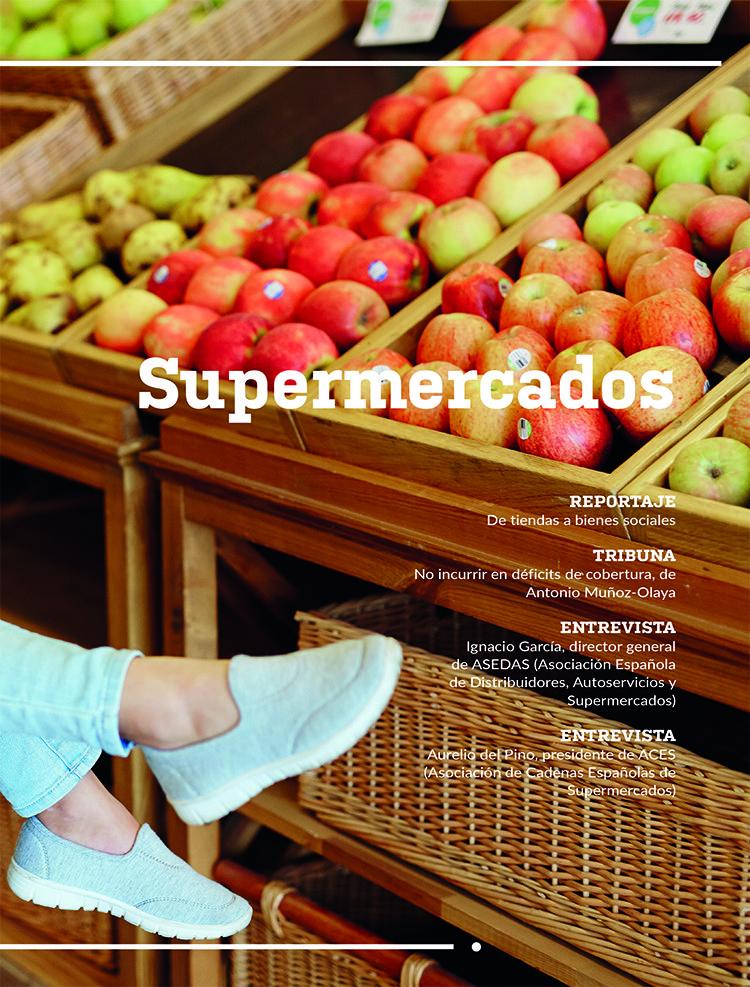 Portada de la sección de Actualidad Aseguradora dedicada al sector económico de los Supermercados